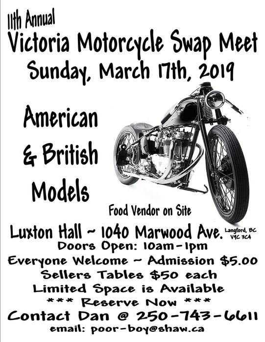 11Th Annual Victoria Motorcycle Swap Meet Outside Cowichan