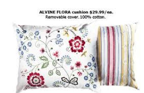pair ikea alvine flora cushions cotton