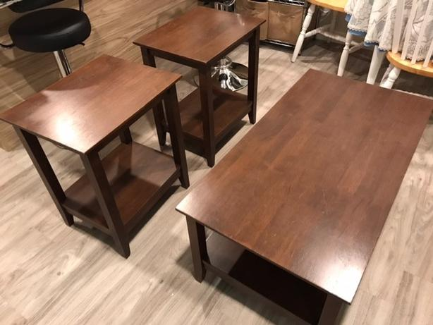 log in needed 100 solid wood coffee and end tables