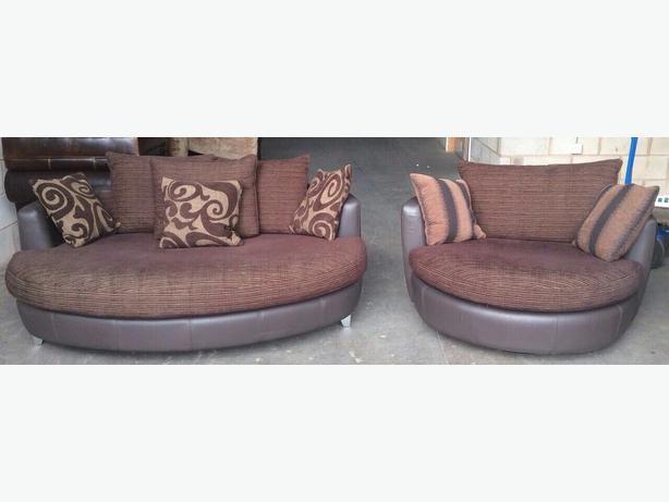 We Deliver Uk Dfs Swivel Cuddle Chair Big Cuddler Sofa Set