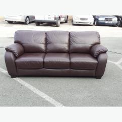 Moods 3 Seater Leather Sofa Bed Feather Sofas Uk Ex Display Brown Outside Birmingham