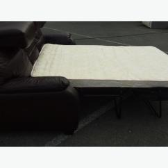 Moods 3 Seater Leather Sofa Bed Tufted Ex Display Brown Outside Birmingham