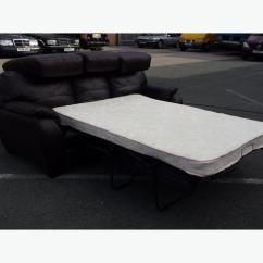 Moods 3 Seater Leather Sofa Bed Most Durable Material For Sofas Ex Display Brown Outside Birmingham