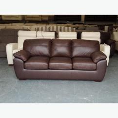 Ex Display Sofa Bed Birmingham High Sleeper Desk Ex-display Alberta Brown Leather 3 Seater Outside ...