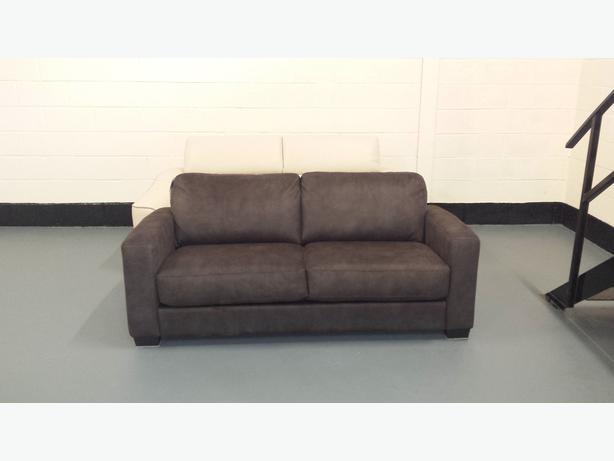 ex display sofa bed birmingham modern design sofas neston ex-display dante brown fabric 2,5 seater outside ...