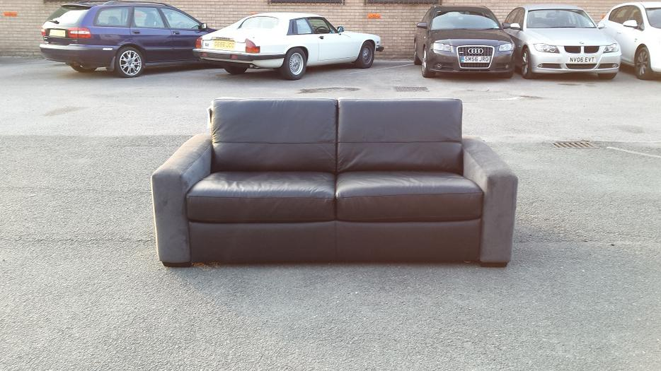 ex display sofa bed birmingham 5 in 1 reviews ex-display leather and suede fabric black/grey ...