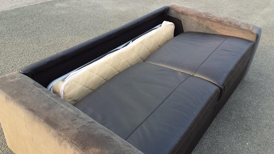 ex display sofa bed birmingham sofas london uk ex-display leather and suede fabric black/grey ...