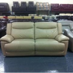 Modena 2 Seater Reclining Leather Sofa Steam Cleaner For Cleaning Fabric Ex Display Pebble Electric Recliner 3