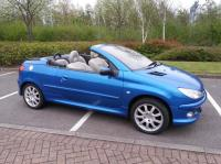 peugeot 206 allure cabriolet 2006 plate 11 months mot vgc ...