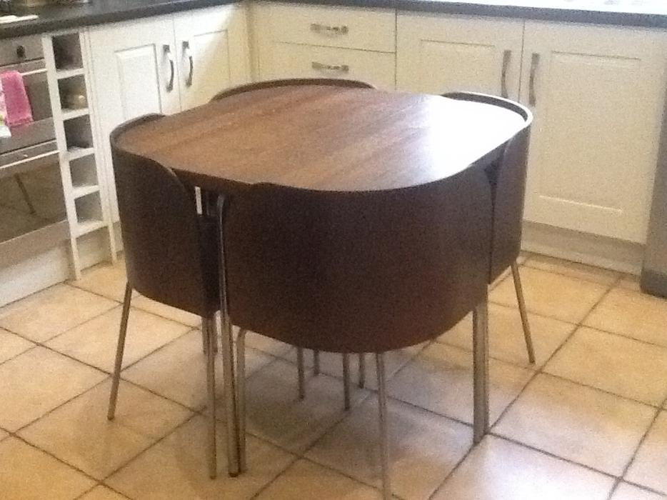 Ikea Fusion space saving table  chairs kitchendining