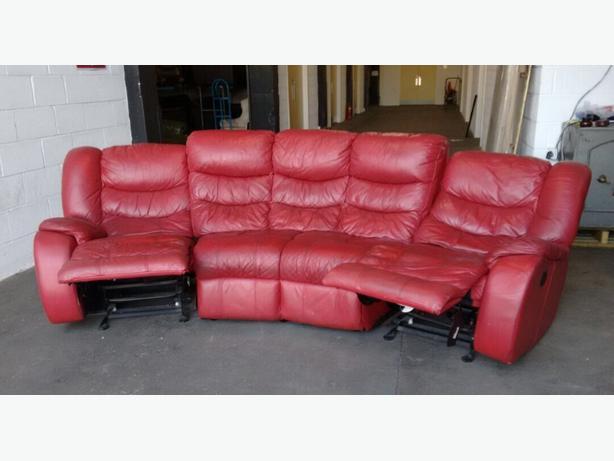 Curved Leather Sofa Uk Brokeasshome Com