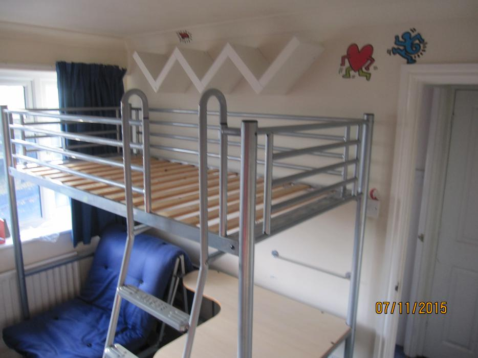 JAYBE Studio 3 Bunk Bed with futon chair bed and desk