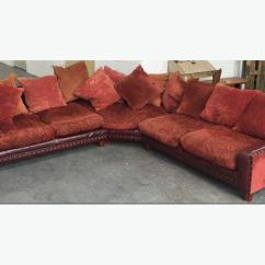 Duck Feather Corner Sofa Martha Stewart Leather Rare Vintage Tetrad Fabric With Filled Cushions