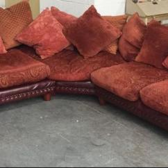 Duck Feather Corner Sofa Factory Mill Street Dublin 8 Rare Vintage Tetrad Leather Fabric With Filled Cushions Smethwick Dudley