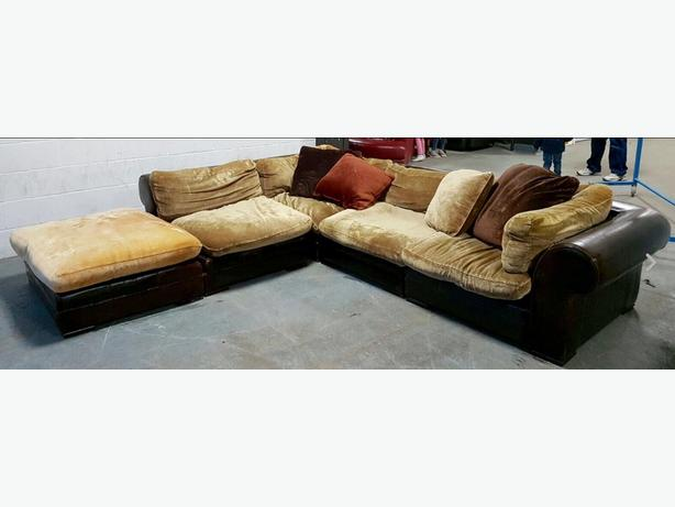 duck feather corner sofa cover dog dfs tetrad massive hemmingway leather amp fabric we deliver