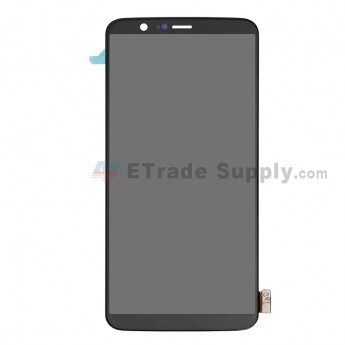 OnePlus 5T LCD Screen and Digitizer Assembly - Black - Without Any Logo - Grade S+ - ETrade Supply