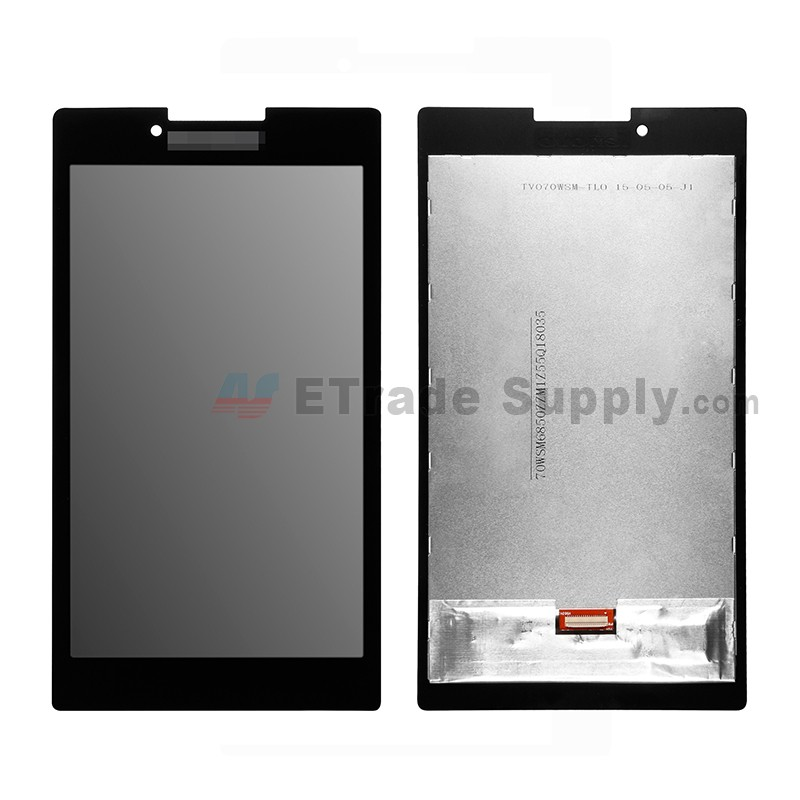 For Lenovo Tab 2 A7 30 Lcd Screen And Digitizer Assembly Replacement Black With Logo Grade S