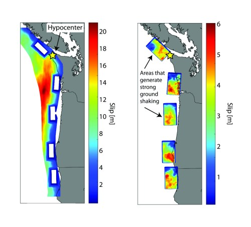 small resolution of colored map of subduction zone