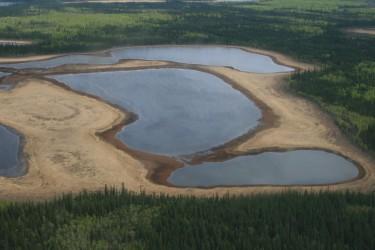 Shallow lakes dot the landscape in the Yukon Flats region.