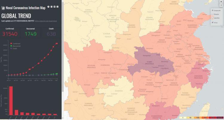 Interactive map shows worldwide spread of coronavirus   UW News