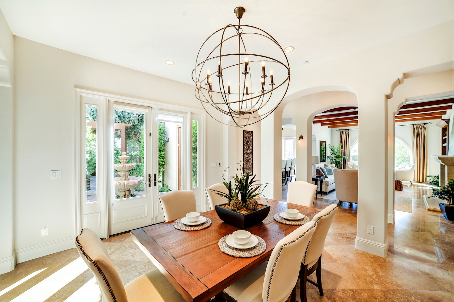 California Mediterranean Style  Home Staging Design by