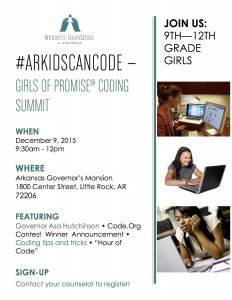 Click on the flyer to get to the event page on our Girls of Promise website.