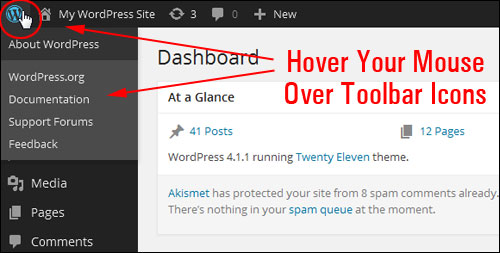 The WP Dashboard Explained