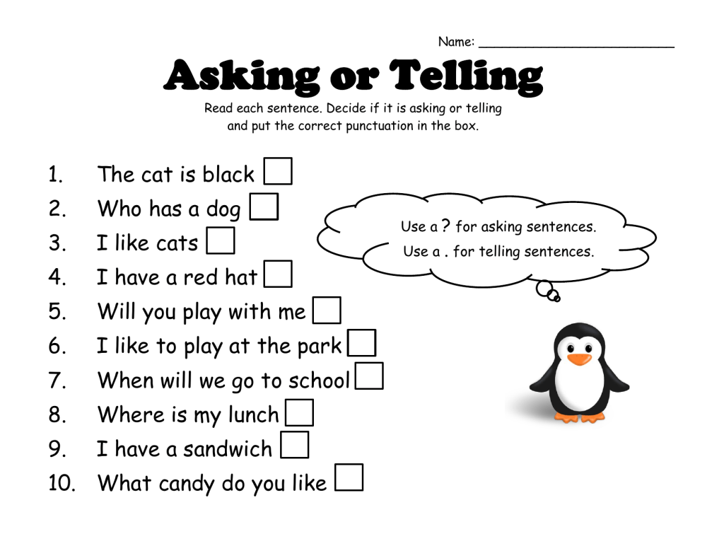 medium resolution of Asking or Telling by denise · Ninja Plans