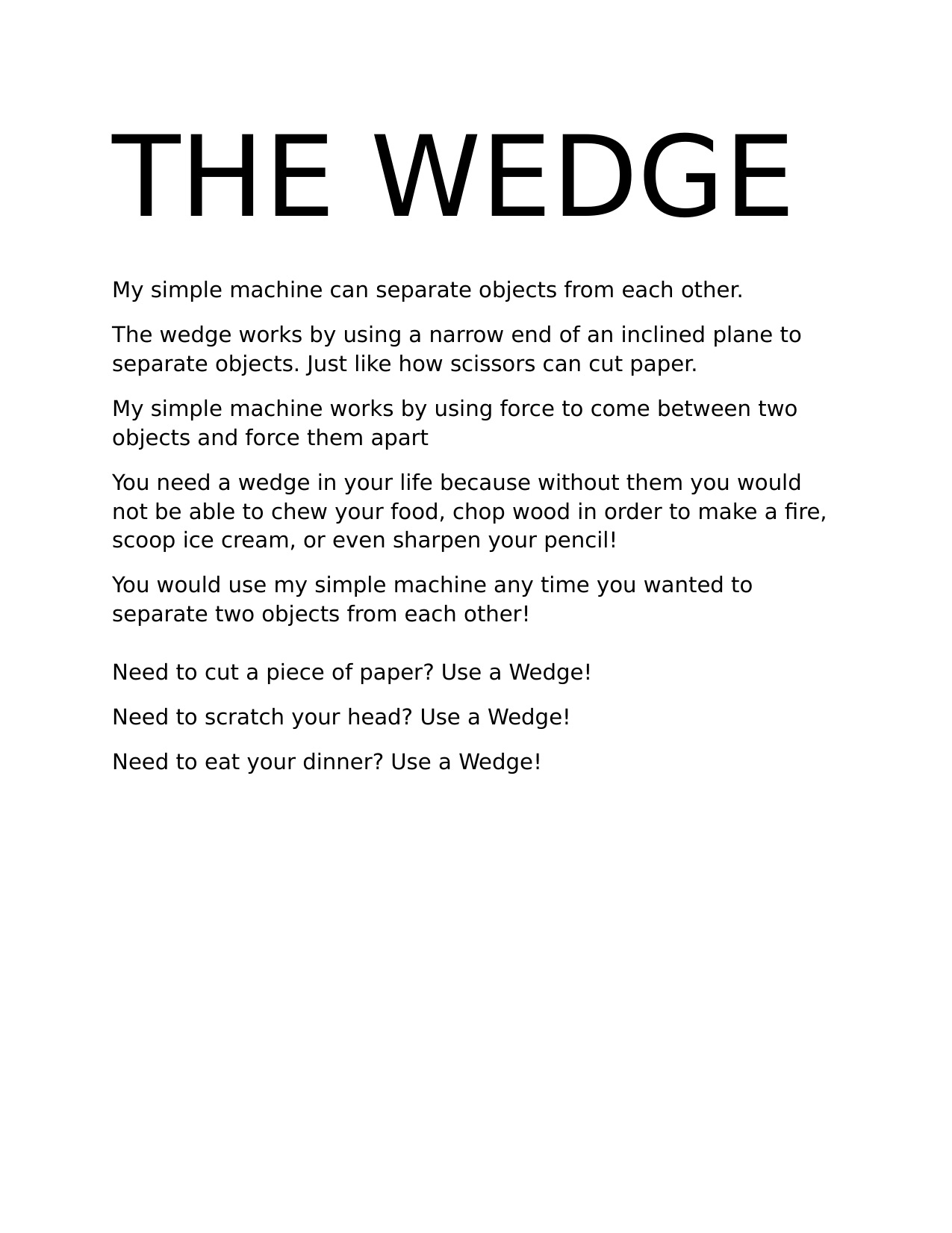 Wedges Information Poster By Mssherlock Ninja Plans