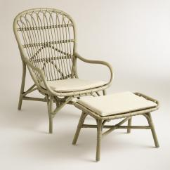 Rattan Wingback Chairs Antique Dentist Chair Value Gray And Ottoman Online Interior Design