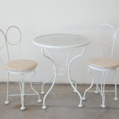 Ice Cream Table And Chairs Human Touch Zero G Chair Antique Parlor Furniture