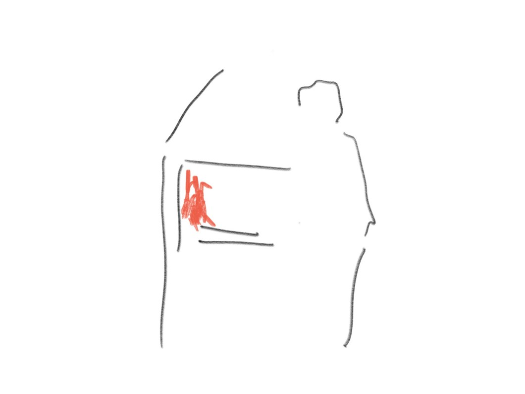 a drawing of braai