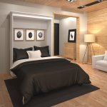 Details About Bestar 40184 17 Versatile 70 Inch Queen Size Wall Bed In White Finish New