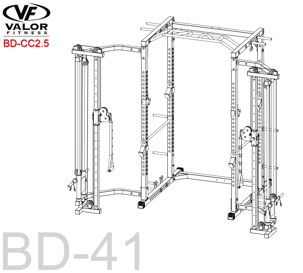 Valor BD-CC2.5 Cage Cable Crossover Attachment 2.5