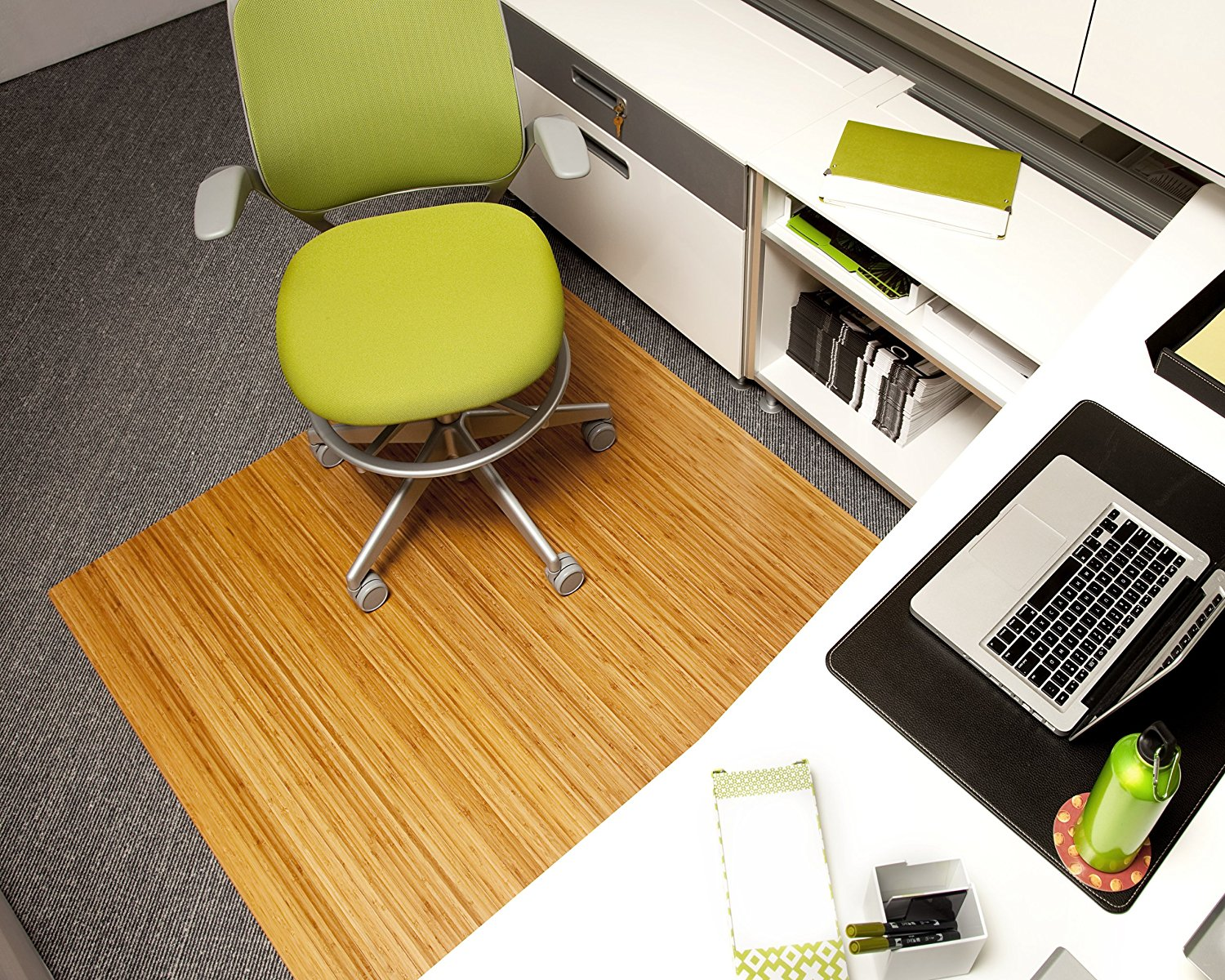bamboo chair mat floating high anji mountain amb24012 roll up office 48 inch by 794552240129