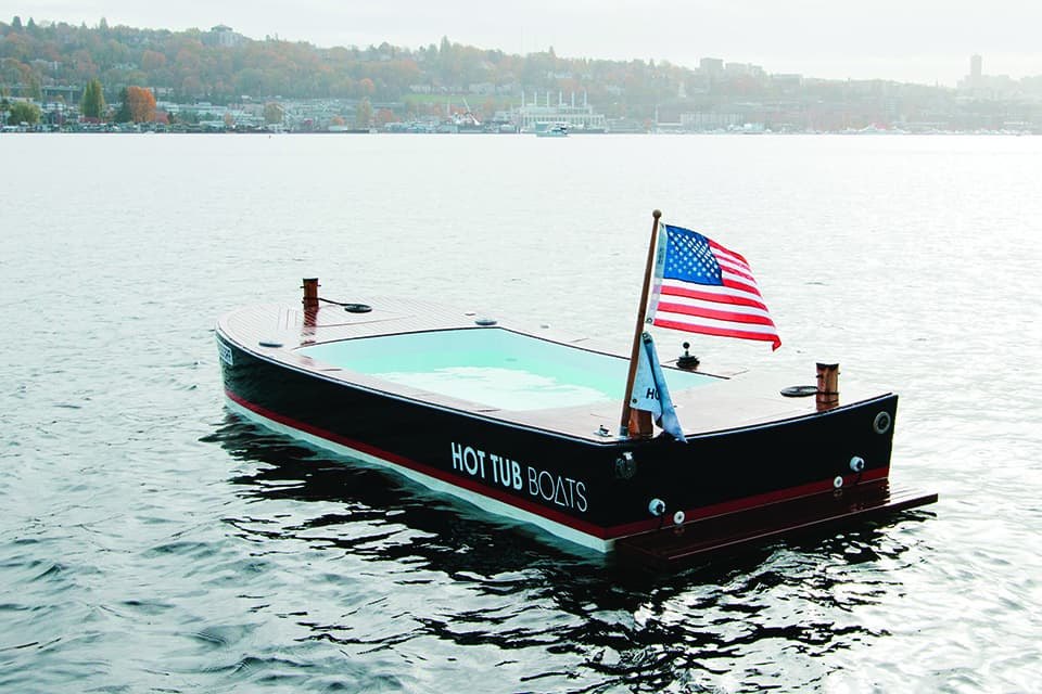Hot Tub Boat >> Warm Up Washington Hot Tub Boats On Lake Union 1889 Magazine