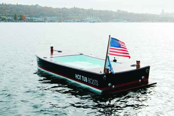 warm up washington hot tub boats on lake union 1889 magazine. Black Bedroom Furniture Sets. Home Design Ideas