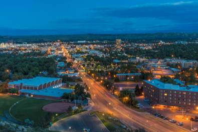 Looking down from the Rimrocks in Billings, Montana, USA Photo by Chuck Haney