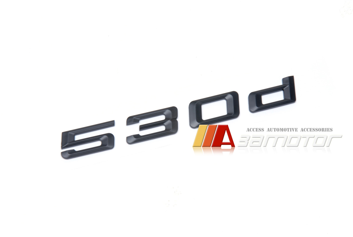530d Matte Black Trunk Lid Rear Emblem Badge Letter for