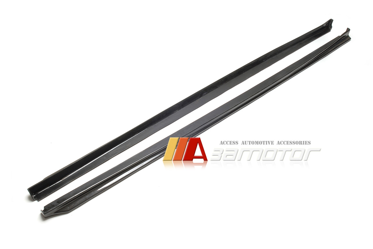 Carbon Fiber 3d Style Side Skirt Extensions 2pc For Bmw F10 5 Series M5 Package