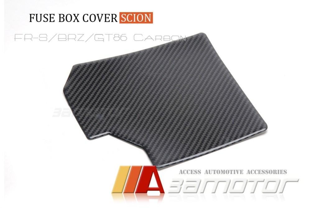 medium resolution of details about real carbon fiber fuse box cover for scion fr s toyota gt86 subaru brz egine bay