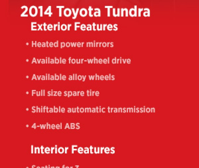 Check Out The 2014 Toyota Tundra Interior And Exterior Features Visit Eddys