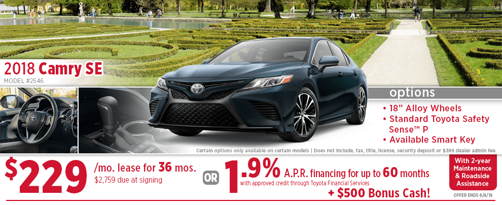 New 2018 Toyota Camry Specials Wichita Vehicle S Lease