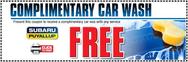 free subaru car wash
