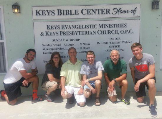 Aaron Cathey, Samuel Shelton, Pastor Edd Cathey, Tom Sills, Rev. Bill Welzien, Joshua Gardner