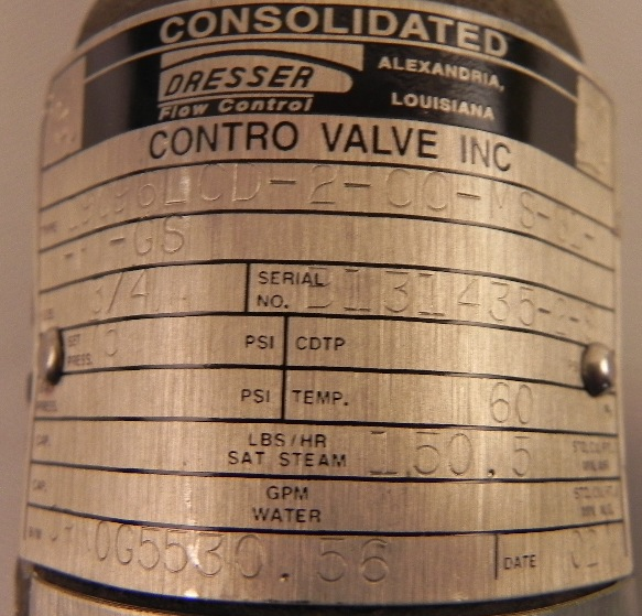 Dresser Consolidated Safety Relief Valve 19096LCD  eBay