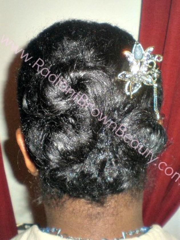 banana clip hairstyle