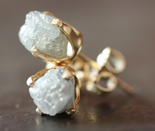 Alexis Russell Raw Diamond Studs