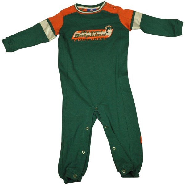 Nfl Reebok Miami Dolphins Fins Toddler Coverall Creeper