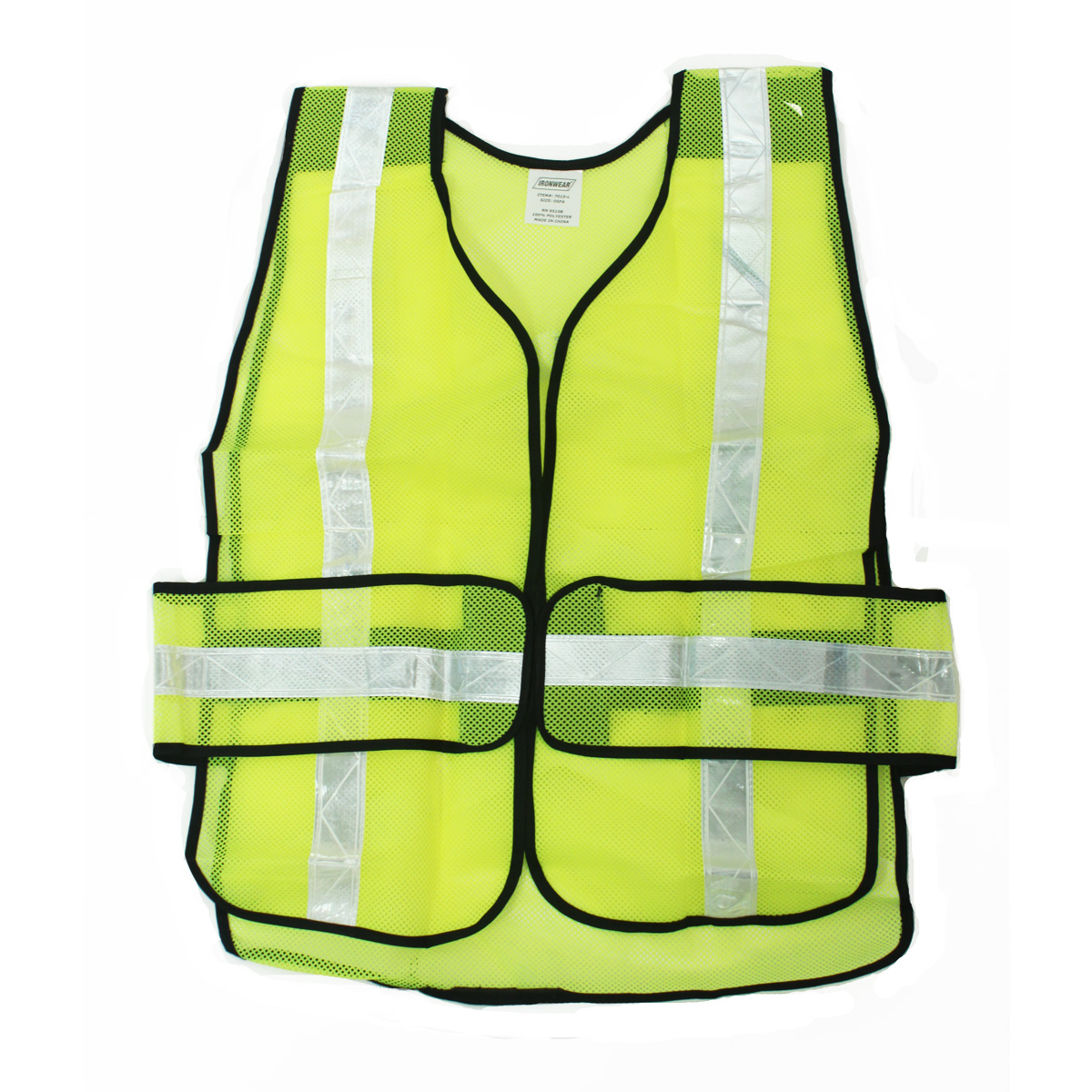 Pockets Vest Solid Zipper Safety And